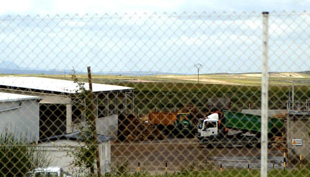 Instalaciones objeto de la polémica que acogen en Funes residuos orgánicos procedentes de Guipúzcoa