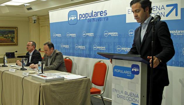 Pablo Zalba, a la dcha, número 9 en las listas del PP al Parlamento Europeo