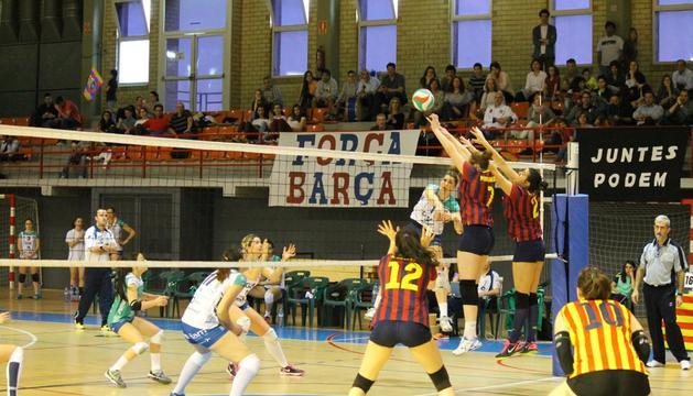 Imágen del tercer partido de semifinales