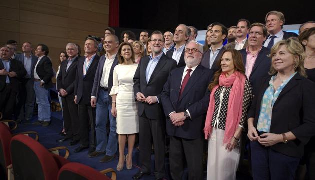 Presentación del PP de su candidatura europea, en la que figura el navarro Pablo Zalba