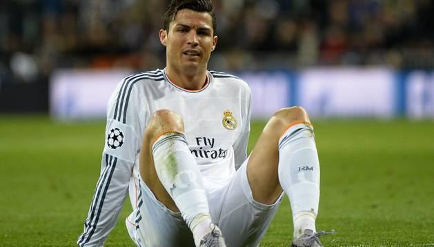 Cristiano Ronaldo, tras lesionarse ante el Dortmund