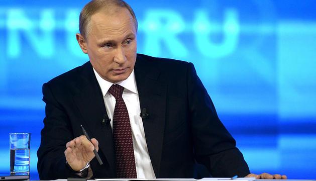 Putin, en su intervención televisiva.