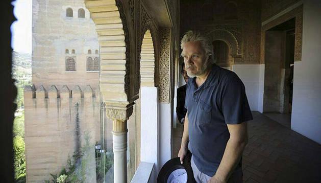Tim Robbins durante su visita a la Alhambra