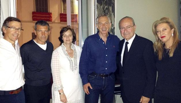 Tony Blair, durante su visita a Málaga en Semana Santa
