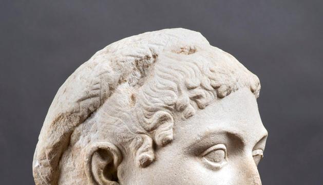 Busto en mármol de la reina Cleopatra creado a mitad del siglo I antes de Cristo.