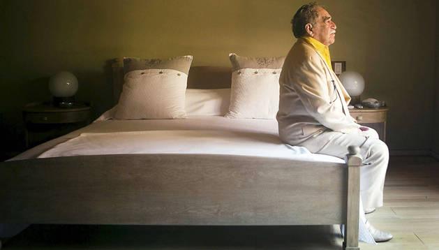 Fotografía del escritor colombiano Gabriel García Márquez, que forma parte de la exposición del fotógrafo argentino Daniel Mordzinski