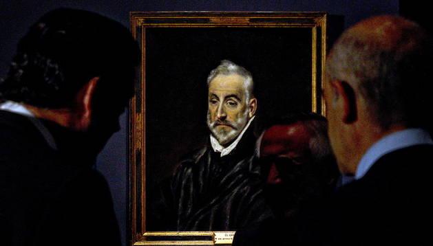 El cuadro del Greco 'Antonio de Covarrubias y Leiva' . EFE