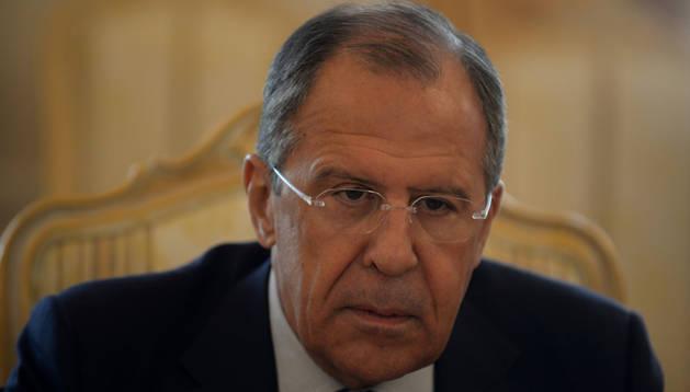 El ministro de Asuntos Exteriores ruso, Serguéi Lavrov. AFP