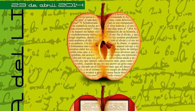 Cartel del Día del Libro editado por la Biblioteca de Navarra