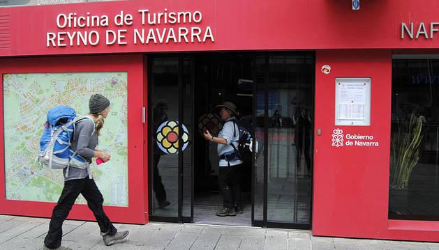 Oficina de Turismo en Pamplona este martes.