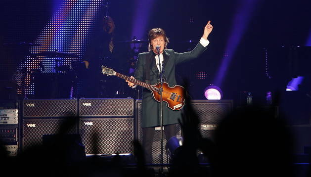 Paul McCartney durante su concierto en Santiago de Chile. Efe