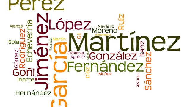Los apellidos más frecuentes en Navarra, según datos del Instituto Nacional de Estadística