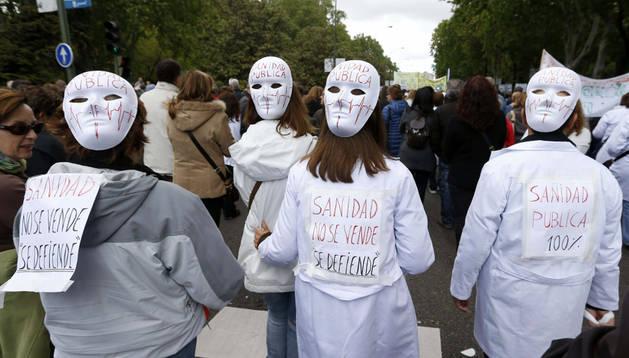 'Marea blanca' en Madrid. EFE