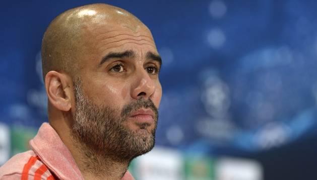 El técnico del Bayern, Pep Guardiola