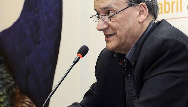 El escritor Gustavo Martín Garzo, en la Feria del Libro de Valladolid del XXX