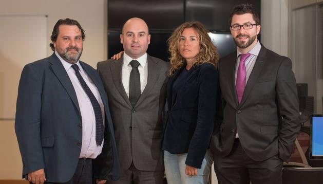 José Antonio Gurucelain, Rafa Lascurain, Eva Vivar y Eduardo Luquin