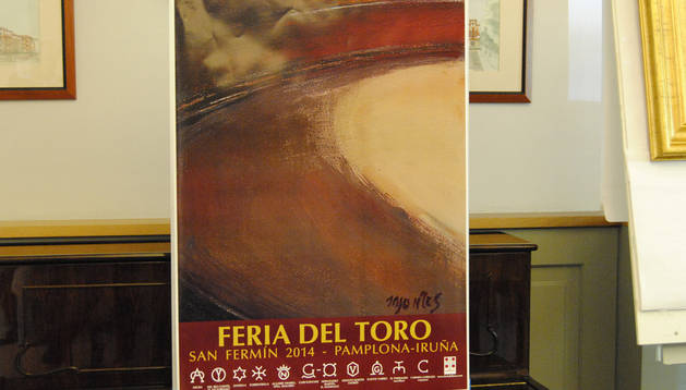 El cartel que anunciará la Feria del Toro de los Sanfermines 2014