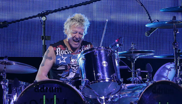 El batería de The Scorpions, James Kottak