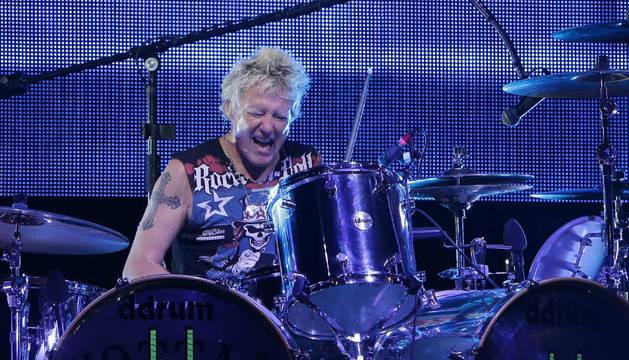 El batería de The Scorpions, James Kottak