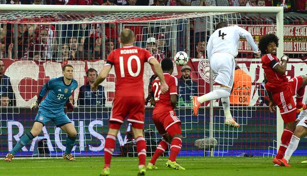 El primer gol de Sergio Ramos