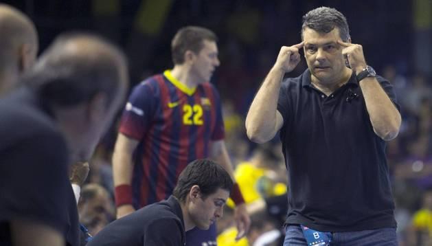 El entrenador del FC Barcelona, Xavi Pascual