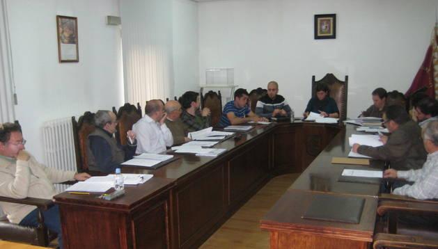 Imagen de la sesión plenaria celebrada ayer por la tarde en el Ayuntamiento de Alsasua. N.G.