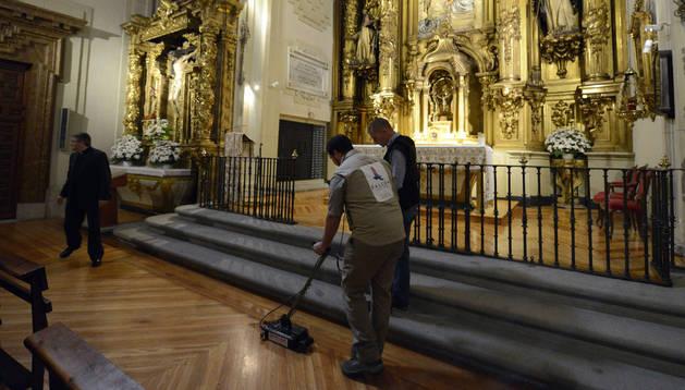 Busqueda de los restos de Cervantes. AFP