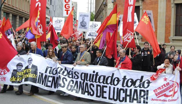Manifestación del Día Internacional Del Trabajo. Viktoria Ubaidullaeva