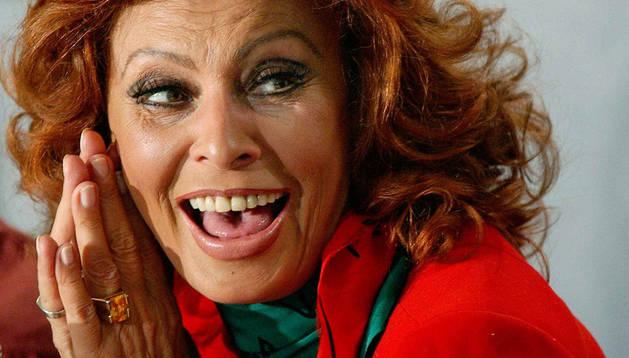 Sophia Loren en una imagen de 2002