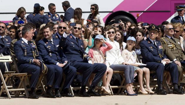 Los Principes de Asturias, Felipe y Letizia junto a sus hijas Leonor y Sofía