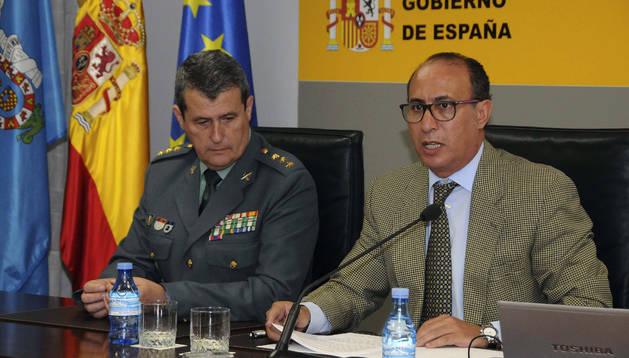 El delegado del Gobierno en Melilla, durante la rueda de prensa