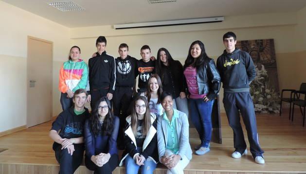 Alumnos del colegio del Puy de Estella que han participado en el programa LaborESO.
