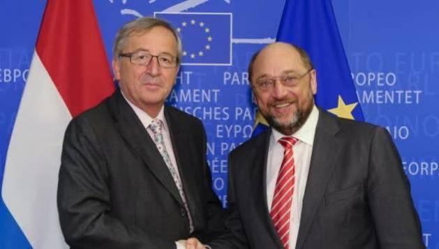 El popular Juncker y el socialista Schulz.