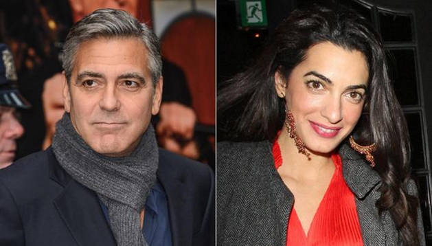 Amal Alamedin y George Clooney.