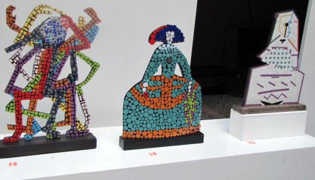 Parte de la muestra 'Pasión por el mosaico'.
