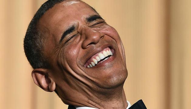 Barack Obama, durante la cena de corresponsales.