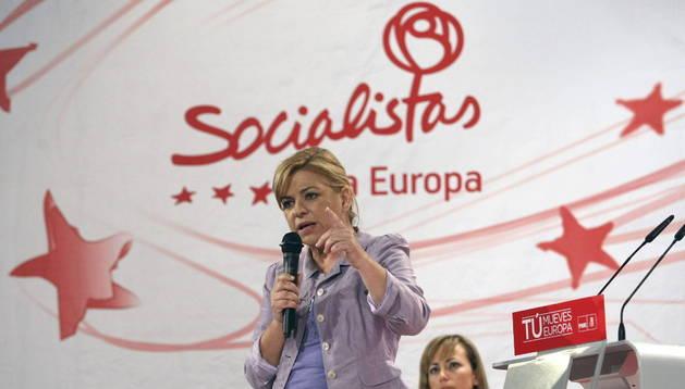 Elena Valenciano durante un acto en L'Alfás del Pi, Alicante. EFE