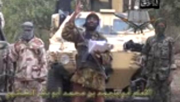 El líder de Boko Haram, en el vídeo