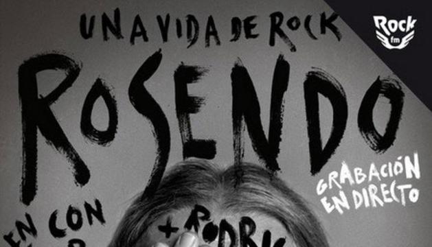 Cartel de presentación del concierto de Rosendo.