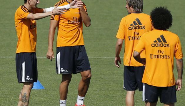 Imagen del entrenamiento del Real Madrid de este martes