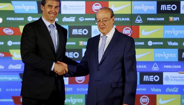 Lopetegui y el presidente del Oporto, Nuno Pinto da Costa
