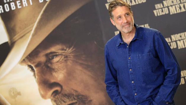 El cineasta, músico y actor Emilio Aragón, durante la presentación de su segundo largometraje, 'Una noche en el viejo México'
