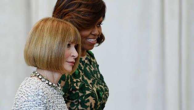Michelle Obama y Anna Wintour, este lunes en Nueva York
