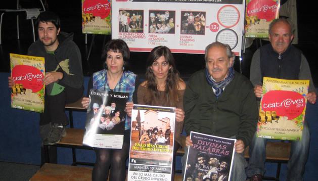 Hasier González, Mertxe Herrera, Ventura Ruiz, Paco Ocaña y Juan Manuel Herrero 'Zapa'.
