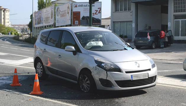 Uno de los vehículos implicados en la colisión en Cordovilla