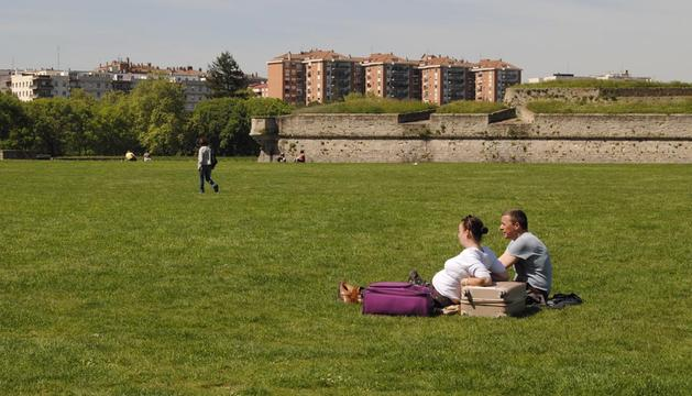 Temperaturas primaverales en Navarra