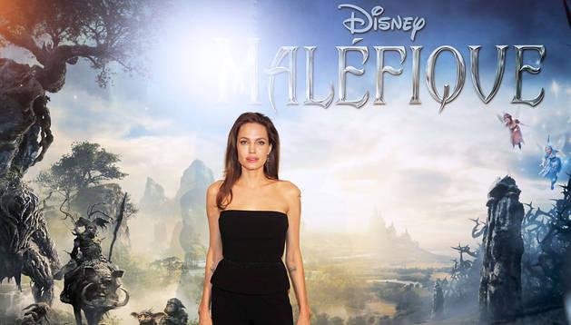 Angelina Jolie en la presentación de 'Maléfica'