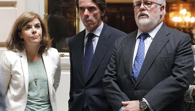 Sáenz de Santamaría, Aznar y Cañete.