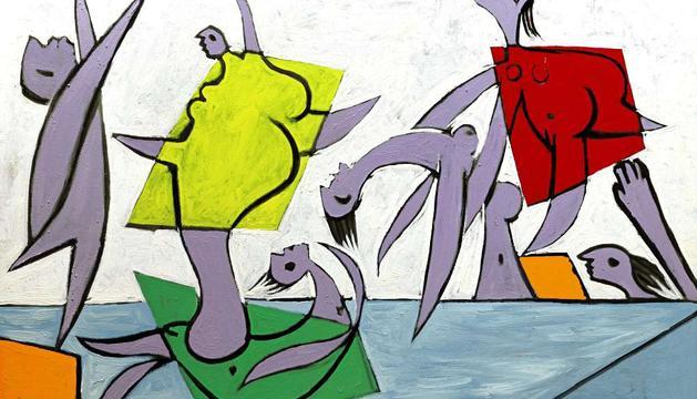 Imagen cedida por Sotheby's Nueva York del cuadro 'Le sauvetage', pintado por Pablo Picasso
