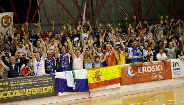 La afición del Ríos volverá a estar con el equipo este sábado con el deseo de que no sea el último partido del equipo en el polideportivo Ciudad de Tudela